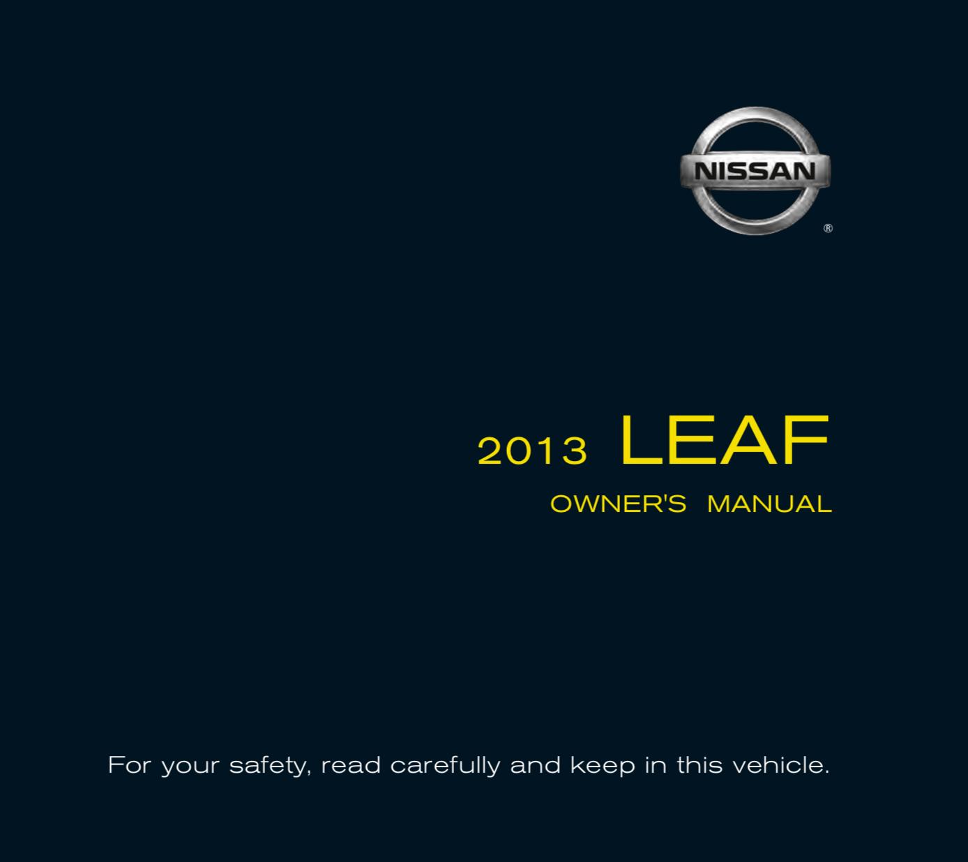 Owner's Manual 2013